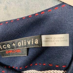 Alice + Olivia Dresses - Alice + Olivia Victoria Peplum Navy Dress     B199